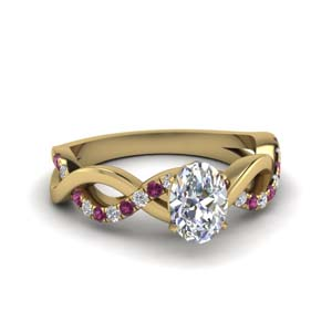 Oval Shaped Pink Sapphire Ring