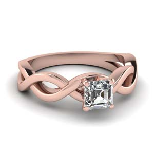 Solitaire Infinity Twist Diamond Ring