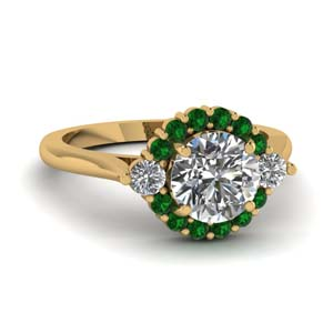 Emerald Ring In 18K Gold
