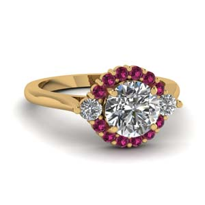 Gold Pink Sapphire Ring