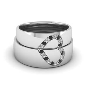 Black Diamond Band For Couple