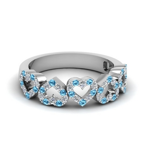 Topaz Heart Design Band