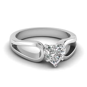 Solitaire Diamond Loop Ring