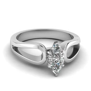 Marquise Cut Diamond Solitaire Rings