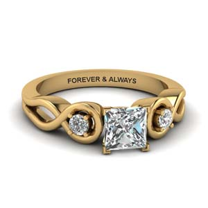 Princess Cut Diamond Infinity Ring