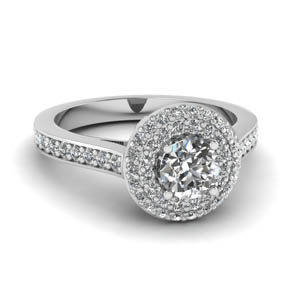 Diamond Twin Halo Ring