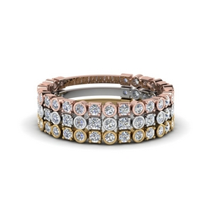 Multi Gold Diamond Stackable Ring