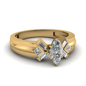 Marquise Diamond Ring (0.85 Ctw.)