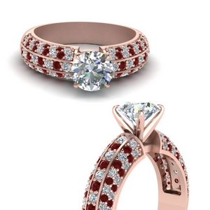 Ruby With Pave Diamond Ring