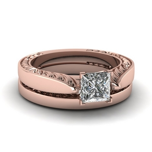 Princess Cut Tapered Ring Set