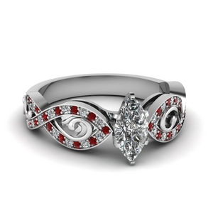 Accent Ruby Marquise Shaped Ring