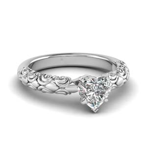 Filigree Design Engagement Ring