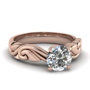 14K Rose Gold Filigree Ring