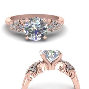 0.75 Ct. Filigree Accent Ring