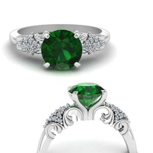 Vintage Filigree Emerald Ring