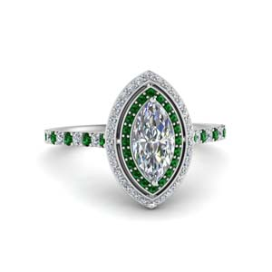 pave-marquise-cut-diamond-ring-with-emerald-halo-in-FD121992MQRGEMGR-NL-WG
