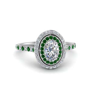 pave-oval-shaped-diamond-ring-with-emerald-halo-in-FD121992OVRGEMGR-NL-WG
