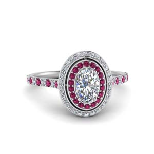 Halo Diamond Ring For Mom