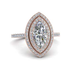 1 Carat Diamond Double Halo Ring