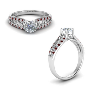 Cathedral Filigree Ruby Ring