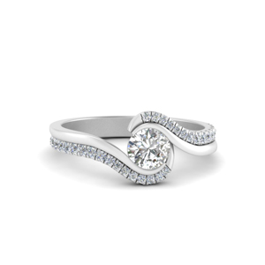 Round Cut Moissanite Diamond Rings