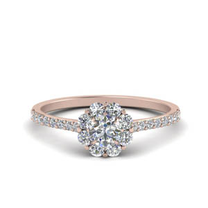 Petite Flower Diamond Ring
