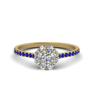 Petite Sapphire Floral Ring