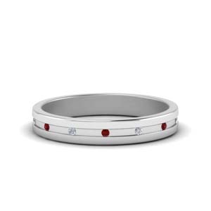 Ruby With Delicate Wedding Band