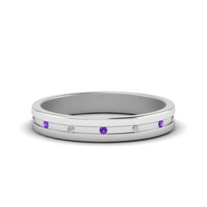Thin Purple Topaz Band