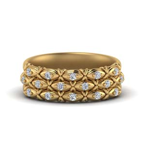 Three Row Gold Promise Band