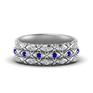 3 Row White Gold Promise Band