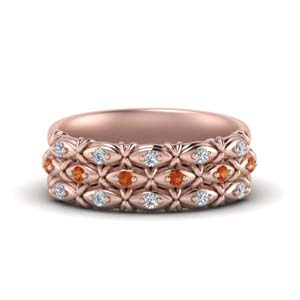 Women Band With Orange Sapphire