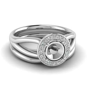 Wedding Set Without Center Stone