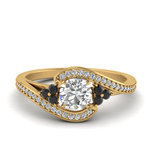 Pave Swirl Engagement Ring