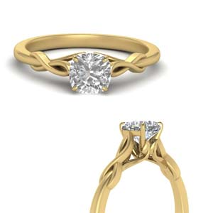 Classic Cushion Solitaire Ring Rings
