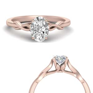 Oval Diamond Twisted Ring