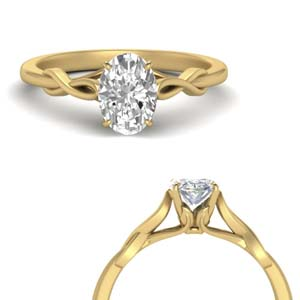 Twisted Oval Shaped Solitaire Ring