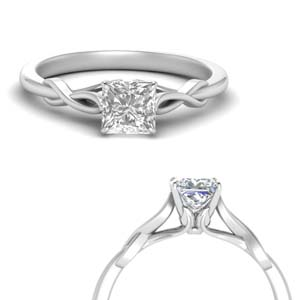 Nature Inspired Solitaire Ring