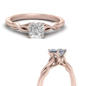 Princess Cut Lab Diamond Ring