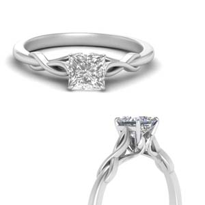 Lab Made Diamond Solitaire Ring