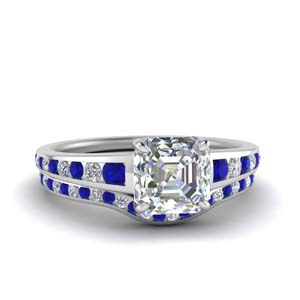 asscher-cut-graduated-channel-diamond-wedding-set-with-sapphire-in-FDENR1115ASGSABL-NL-WG