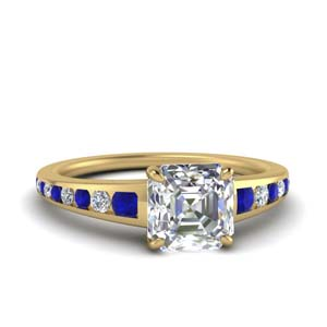 Gold Channel Diamond Ring