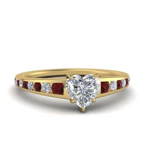 Ruby Heart Channel Ring