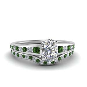 oval-shaped-graduated-channel-diamond-wedding-set-with-emerald-in-FDENR1115OVGEMGR-NL-WG