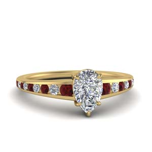 Pear Shaped Gold Ring