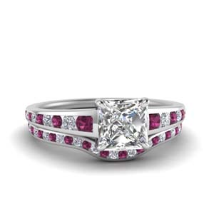 princess-cut-graduated-channel-diamond-wedding-set-with-pink-sapphire-in-FDENR1115PRGSADRPI-NL-WG