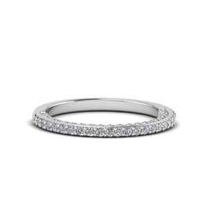 Thin Filigree Diamond Band