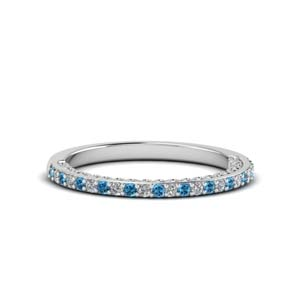 Pave Diamond Band With Topaz