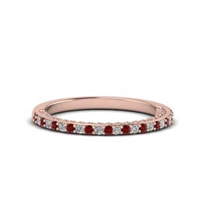 Ruby Thin Diamond Band