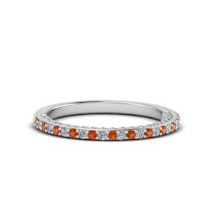 Platinum Micropave Diamond Band